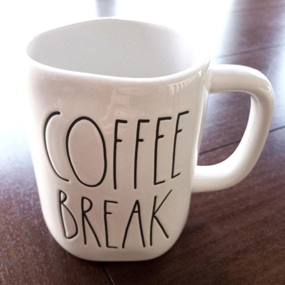Rae Dunn COFFEE BREAK mug.